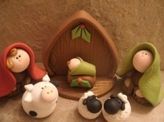 Nativity 7 piece Set Made to Order by countrycupboardclay on Etsy, $28.95