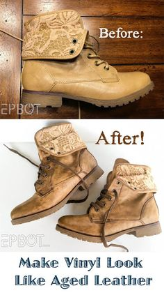 EPBOT.com Jen Yates shows us how to weather plastic-y vinyl boots into realistic looking leather!