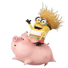 The Minions - Dave Riding Pig Minions Fans, Minions Despicable Me, Minion Gifts, Minion Dave, Wonder Man, Spiderman, Batman, Best Villains, Mickey Mouse And Friends
