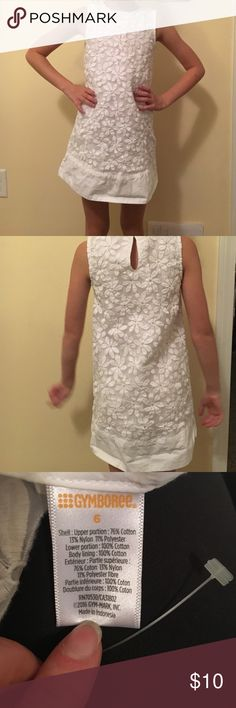 NWOT Gymboree White floral tank dress White floral dress.  Zips up side. Never worn. Gymboree Dresses Casual