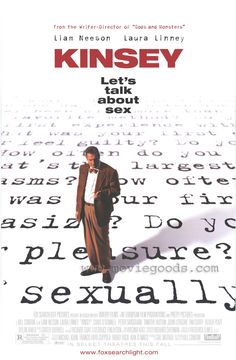 Kinsey was such an influential presence in sex research that a film was made about his life to inform the public of his findings and value to society #kinsey