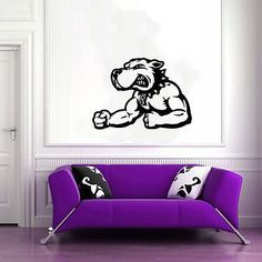 Wall Mural Vinyl Sticker Decal GYM SHOP SPORTS LOGO EMBLEM DOG DA2571