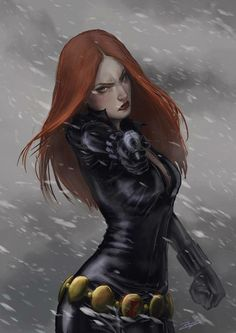 The Black Widow by rosythorns.deviantart.com on @deviantART #avengers #marvel #comics #natasharomanoff