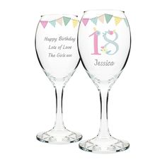 Treat them to a lovely personalised birthday glass!