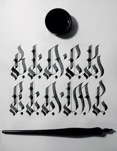 """""""Black Flame"""" is name of this style. #tusk #calligraphy #thailand"""