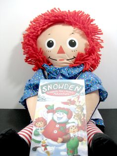 "Playskool Raggedy Ann Doll 22"" and Snowden the Snowman Sealed VHS #DollPlayskoolSnowdenDaytonHudson #DollsMovie"