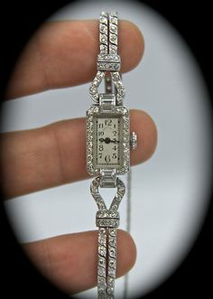 Antique Tiffany & Co. Platinum and Diamond Watch  this is gorgeous