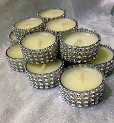 Tealight Silver Bling Centerpiece Tealight Candles Rhinestone Diamond Wedding or Party Tealights 12 Pc Lot Premium Quality http://www.amazon.com/dp/B00HOYXVP6/ref=cm_sw_r_pi_dp_hhWFvb08CN9KY