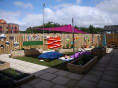 The finished sensory garden for Spina Bifida Hydrocephalus Scotland.