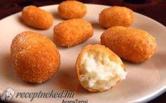 Egyszerű sajtkrokett recept fotóval   30 dkg trappista sajt,    1 közepes tojás     1 púpos ek liszt,    Kb. 5-6 dl olaj a sütéshez