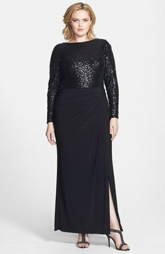 Lauren Ralph Lauren Embellished Bodice Jersey Gown (Plus Size) available at #Nordstrom