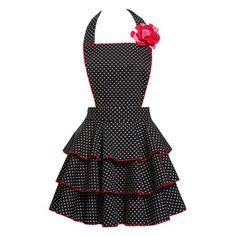 Petite Dot Party Apron Black now featured on Fab.  This is the cutest apron I have seen in a long time.