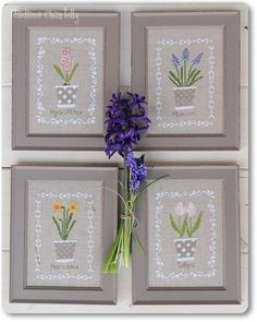 Idea for spring pattern - Cross Stitch Pattern: Bulbes de Printemps