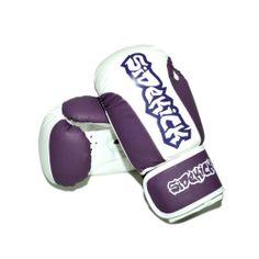 Sidekick Purple White 10oz Ladies Womens Girls Boxing Gloves Thai Boxing KickBox