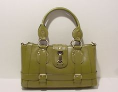 SHOULDER BAG IN LEATHER  FOR WOMEN LADIES PURSE TOTES IN GREEN #3223  #NATALIE #Satchel