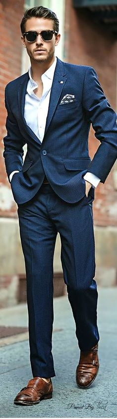 Love a good blue suit. #TomFord Suit ~ T | Raddest Men's Fashion Looks On The Internet: http://www.raddestlooks.org