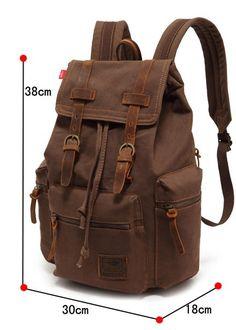 Canvas Casual Backpack / Rucksack  Visit Milkybeer.com for genuine handmade leather bags