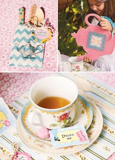 big cut out tea pot and tea cup for photo booth