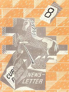 1934 Curwen Press Newsletter No. 8 cover illustration by Edward Bawden