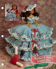 Make your old Fashion Dolls into wonderful trinket boxes for your kids. You remove the legs from the doll and use heavy cardboard inside the