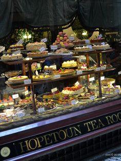 Hopetoun tea room window goodies - A closer-up of Hopetoun.