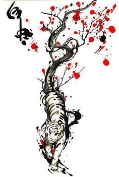 Amazing creative tiger and tree. Tags: Creative, Beautiful, Great