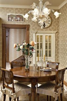 Traditional Dining Room Furniture Luxury 30 Modern Ideas for Dining Room Design In Classic Style Traditional Dining Room Furniture, Classic Dining Room Furniture, Modern Dining Table, Elegant Dining, Dining Room Wainscoting, Dining Room Wall Decor, Dining Room Design, Room Decor, Country Dining Rooms