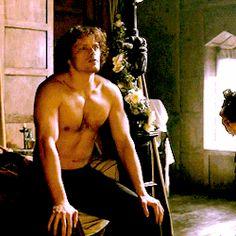 Outlander Gifs, Outlander Novel, Diana Gabaldon Outlander Series, Outlander Season 1, Outlander Book Series, Sam Heughan Outlander, Starz Series, Jamie Fraser, Claire Fraser