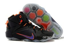 f46e368a81c6 Lebron 12 Ps Elite Black Orange Purple Shoes TopDeals