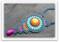 patrickduggandesigns unique artisan jewellery: Aztec Sun 2 and SOLD yippeeeee!!!