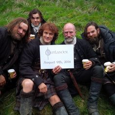Smile, Sassenachs! #August9 will be here before ye know it. #Outlander from Outlander Starz twitter Rupert, Willy, Jamie, Dougal and Murtagh
