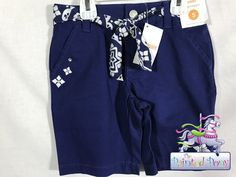 Bright  blue shorts, belted with a blue and white sash, by Gymboree. N W T, size 5, $7.99