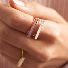 Personalised Bar Ring. Discover thoughtful, personal and wonderfully unique jewellery gifts for her this Christmas