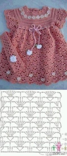 Crochet Baby Girl Dress Crochet Yarn For Girls Staying Beautiful Crochet Girls Dress Pattern, Baby Girl Crochet, Crochet Baby Clothes, Pattern Dress, Knitting For Kids, Baby Knitting, Crochet Yarn, Crochet Stitches, Cardigan Bebe