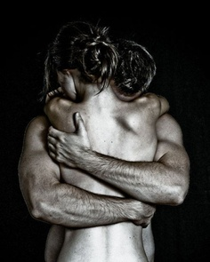 When a woman is embraced by a man who is grounded in his masculine... she can relax into her feminine and allow herself to be held...