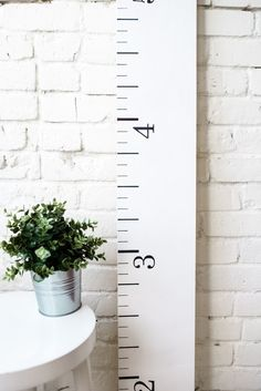 Growth Chart Ruler: Farmhouse White Wood Home by TheWhiteLoft Rustic Kids Rooms, Rustic Nursery Decor, Wood Home Decor, Rustic Decor, Growth Chart Wood, Growth Charts, Toddler Room Decor, Toddler Playroom, White Wood