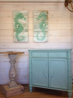 Custom night stand and painted chest by Saltaire Restoration