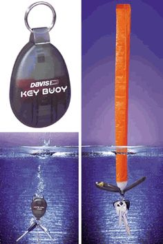 When your keys fall in the water the buoy inflates and your keys rise to the surface. One time use. (xmas gifts for dad life) Xmas Gifts For Dad, Christmas Crafts For Gifts, Gifts For Boaters, Boating Gifts, Boat Safety, Offshore Fishing, Inflatable Kayak, Boat Accessories, Boat Stuff