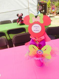 Centerpieces Minnie bowtique girl  first birthday