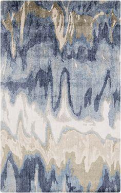 Black & Greys, Blues, Ivory & Whites, Modern, Rugs, Tan & Neutrals - Surya Surya Gemini Area Rug Neutral, Blue | GMN4021-23 | 888473042013| $187.20. Buy it today at www.contemporaryfurniturewarehouse.com