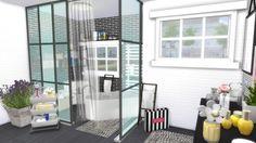 Dinha Gamer: Black & White Bathroom • Sims 4 Downloads
