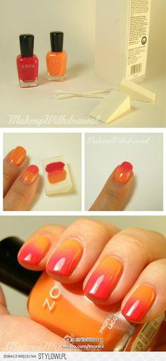nail art: ombre nails - Zoya