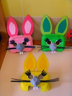 Cute crafts of empty egg box Eierkartons - Basteln - Basteln leere Eierkartons - Ostern Ostern Oster Bunny Crafts, Crafts For Kids To Make, Easter Crafts For Kids, Cute Crafts, Toddler Crafts, Preschool Crafts, Children Crafts, Easter Art, Easter Bunny