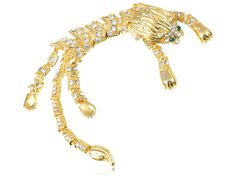Huge Large Golden Lion Link Chain Body Crystal Rhinestone Fashion Pin Brooch *** Want to know more, click on the image. (This is an affiliate link) #JewelryForSale