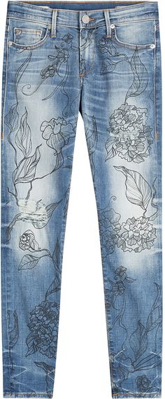 Sometimes I think you can put anything on denim and it will look cool. True Religion Halle Jeans with Floral Print