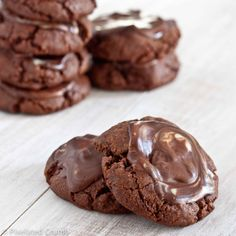 Chocolate Mint Cookies - made these for Valentine's care package.  They were really good.  Thanks, America's Test Kitchen....