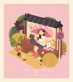 Animated gif about girl in I ❤ This by Simplynana Cute Illustration, Character Illustration, Digital Illustration, Isometric Art, Animation Tutorial, Fanarts Anime, Cute Gif, Illustrations And Posters, Aesthetic Art