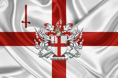 Fine Art Print: City of London Coat of Arms over Flag by Serge Averbukh via FineArt America...