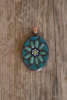 Mosaic Pendant Wearable Art