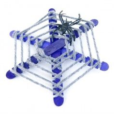 Popsicle Stick Spiderwebs   Looksi Square